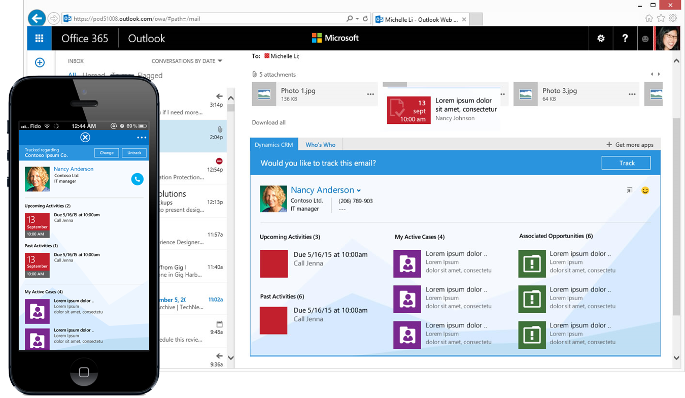 CRM for Outlook App